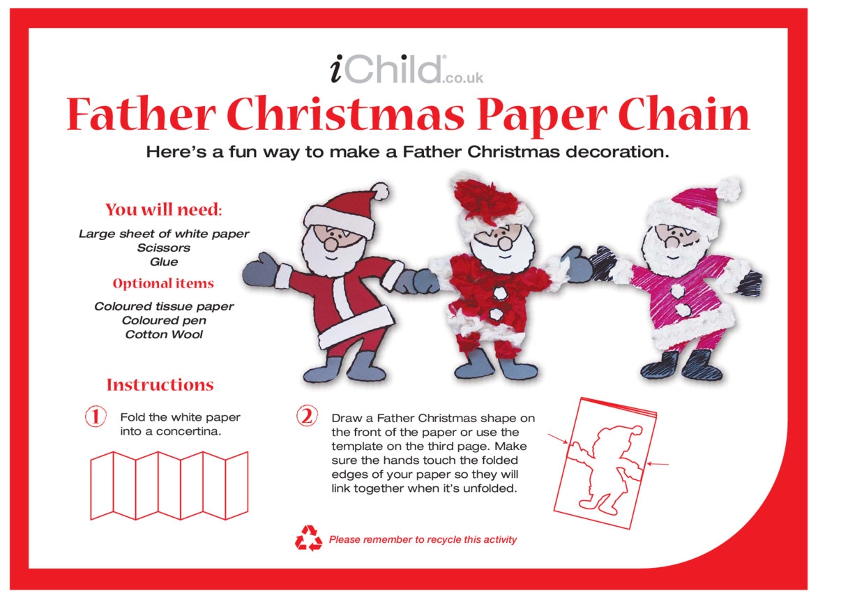 Father Christmas Paper Chain