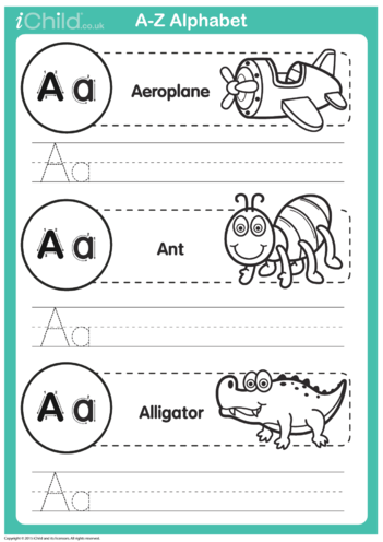 Thumbnail image for the A: Write the Letter A activity.
