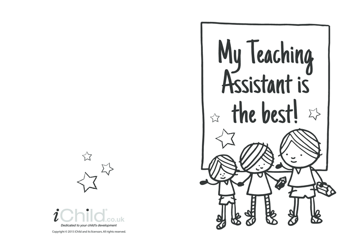 Thumbnail image for the Best Teaching Assistant Card activity.