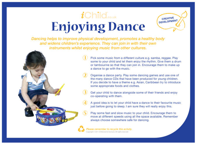 Thumbnail image for the Enjoying Dance activity.