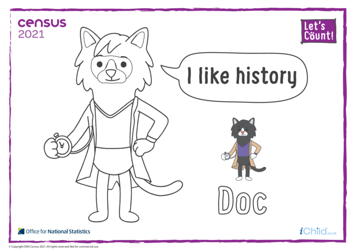 Thumbnail image for the Colour in Counter Cat Doc (English) activity.