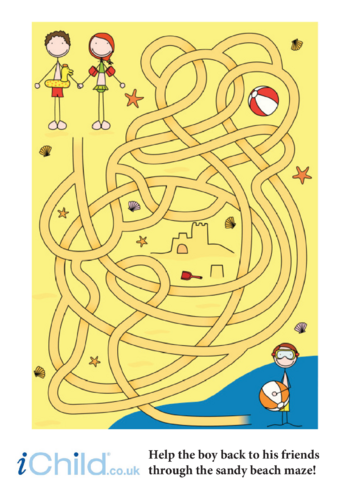 Thumbnail image for the Beach Maze activity.