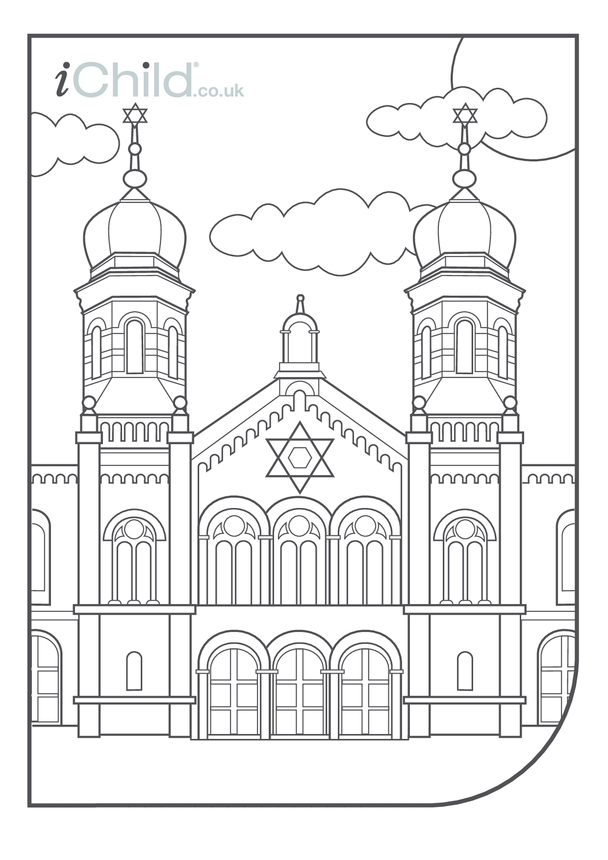 Synagogue Colouring in picture