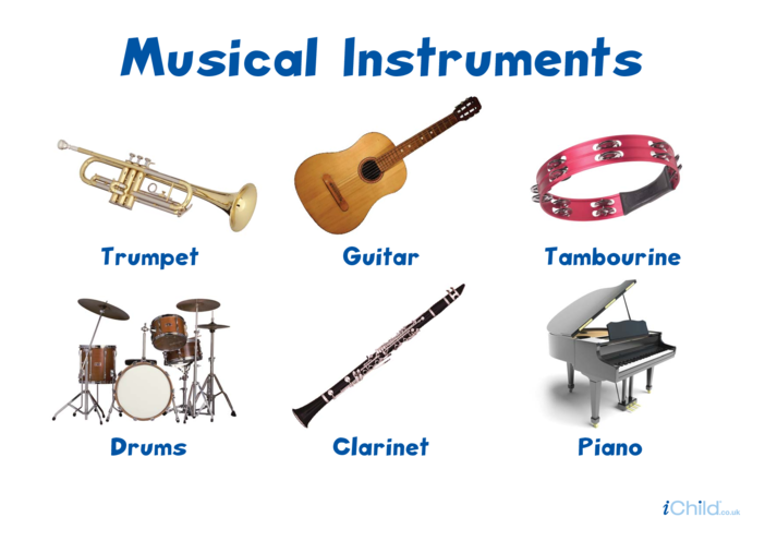 Thumbnail image for the Musical Instruments Poster activity.