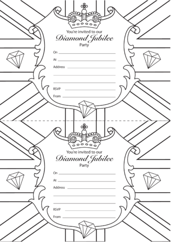 Thumbnail image for the Diamond Jubilee Party Invitations activity.