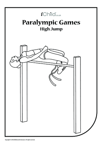 Thumbnail image for the Paralympic High Jump Colouring in Picture activity.