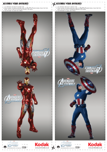 Thumbnail image for the Fold Figures: Iron Man & Captain America activity.