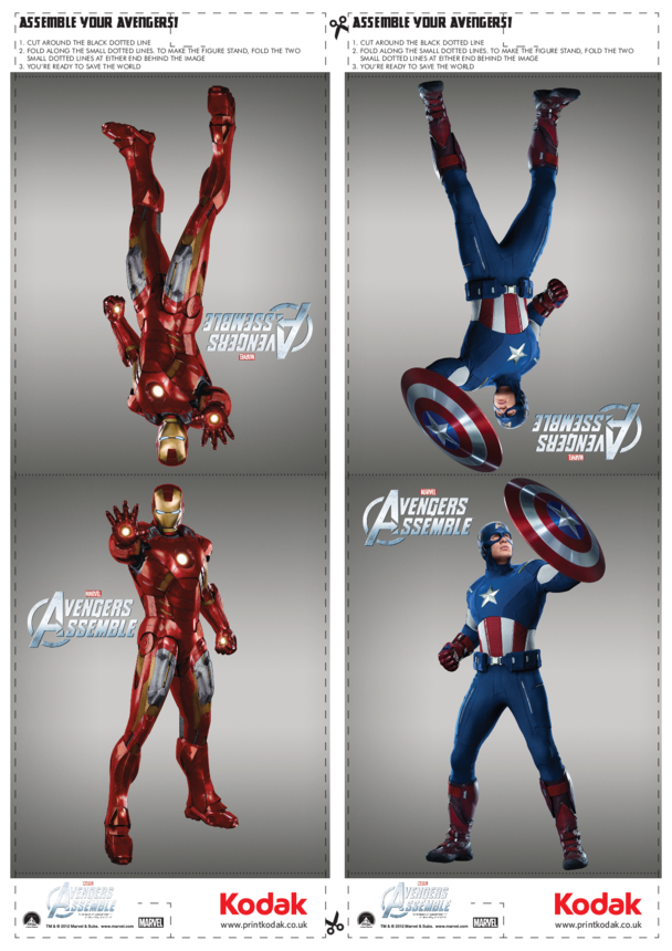 Fold Figures: Iron Man & Captain America