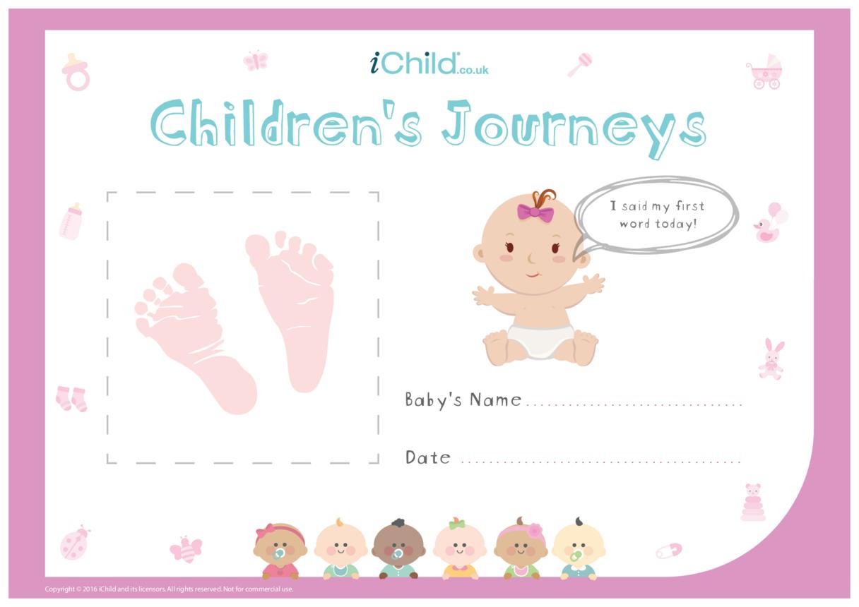 Children's Journeys: My First Word (pink form)