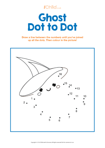 Thumbnail image for the Ghost Dot to Dot activity.