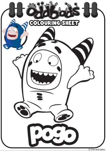 Thumbnail image for the Colouring In Pogo Oddbods activity.