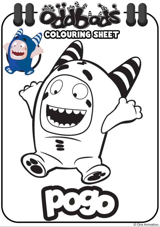 Colouring In Pogo Oddbods