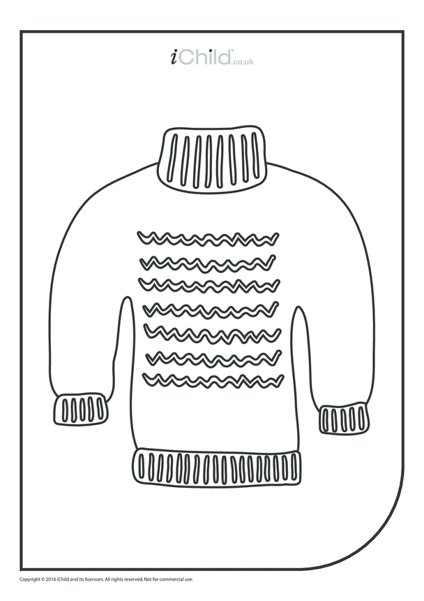 Christmas Jumper Colouring in Picture