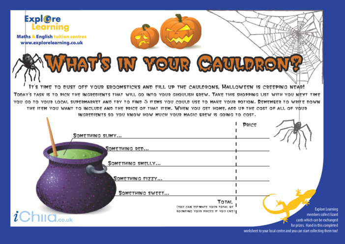 Thumbnail image for the Halloween Shopping activity.