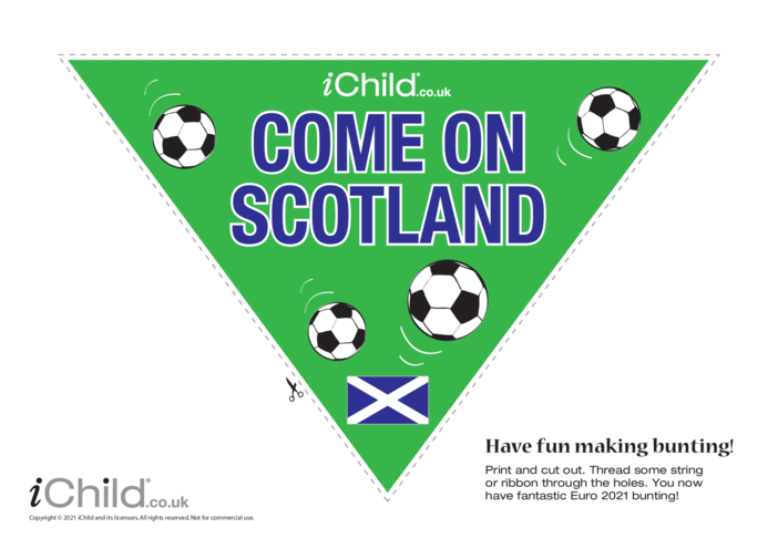 Thumbnail image for the Come on Scotland Football Bunting activity.