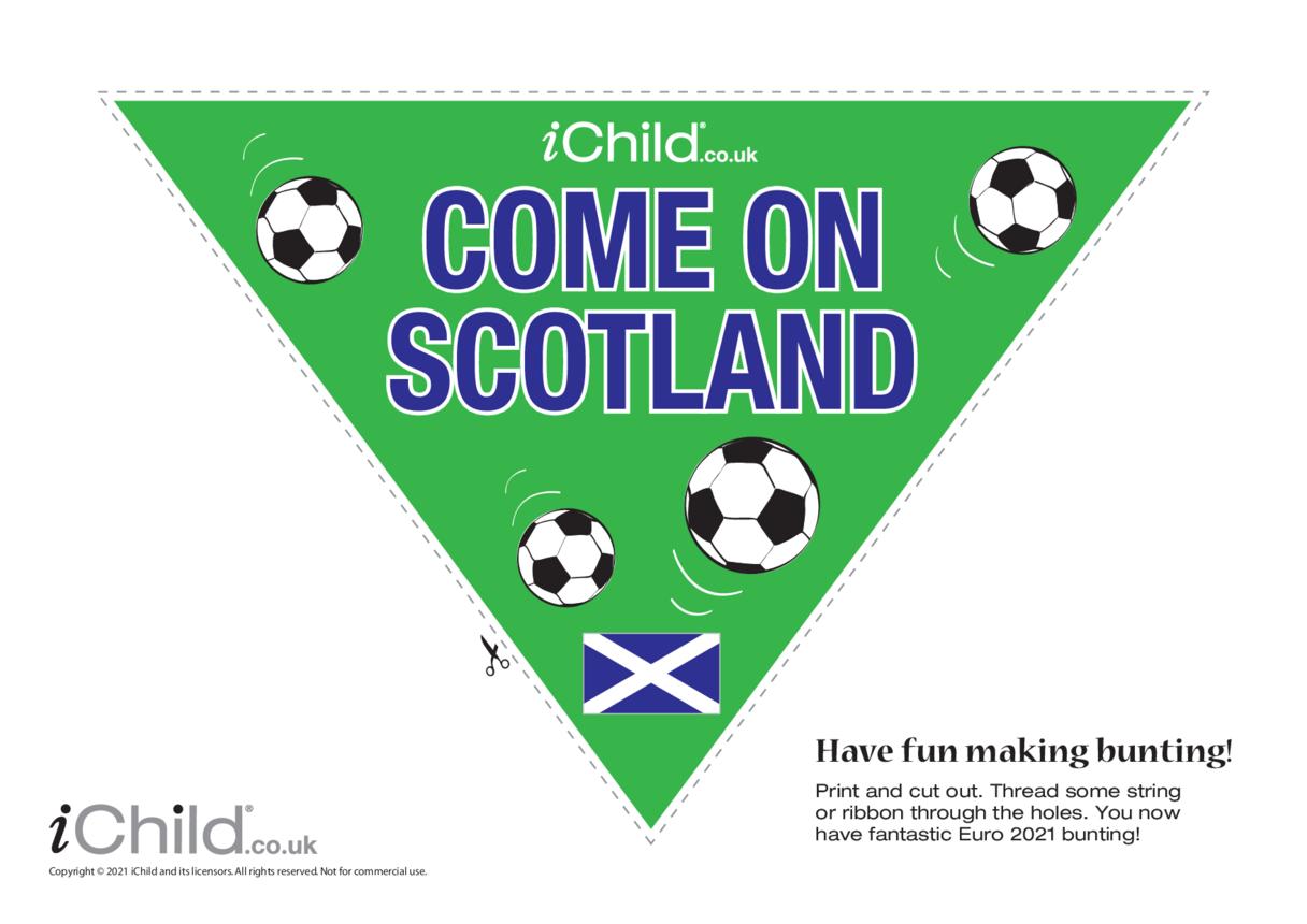 Come on Scotland Football Bunting