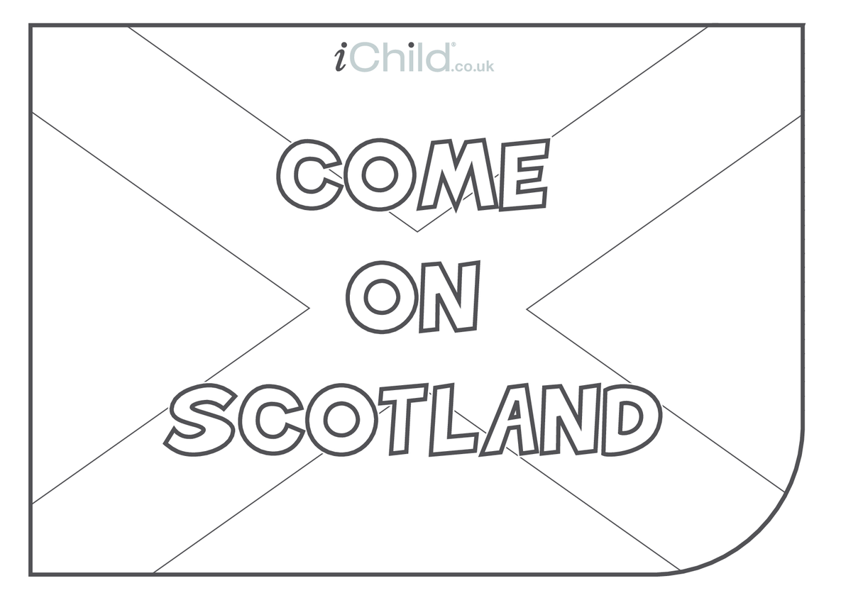 Come on Scotland! Flag Colouring in Picture