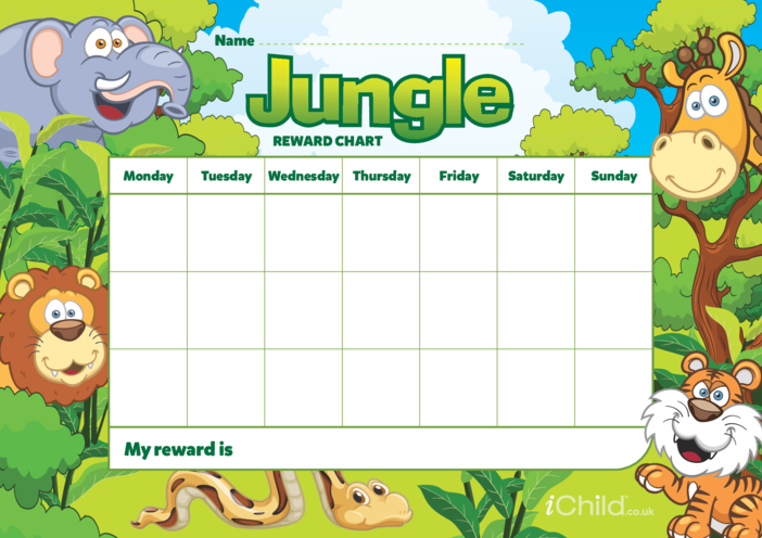 Thumbnail image for the Jungle Reward Chart activity.