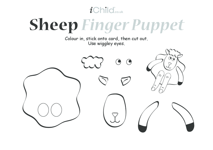 Thumbnail image for the Sheep Finger Puppet activity.