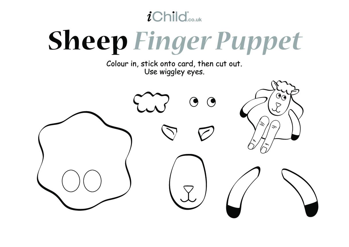 Sheep Finger Puppet