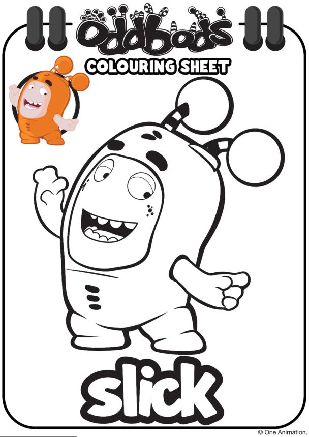 Colouring In Slick Oddbods