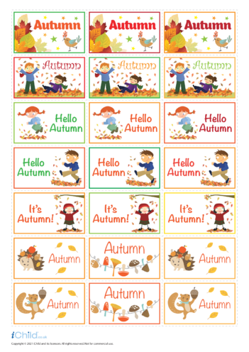 Thumbnail image for the Autumn Large Sticker Sheet activity.