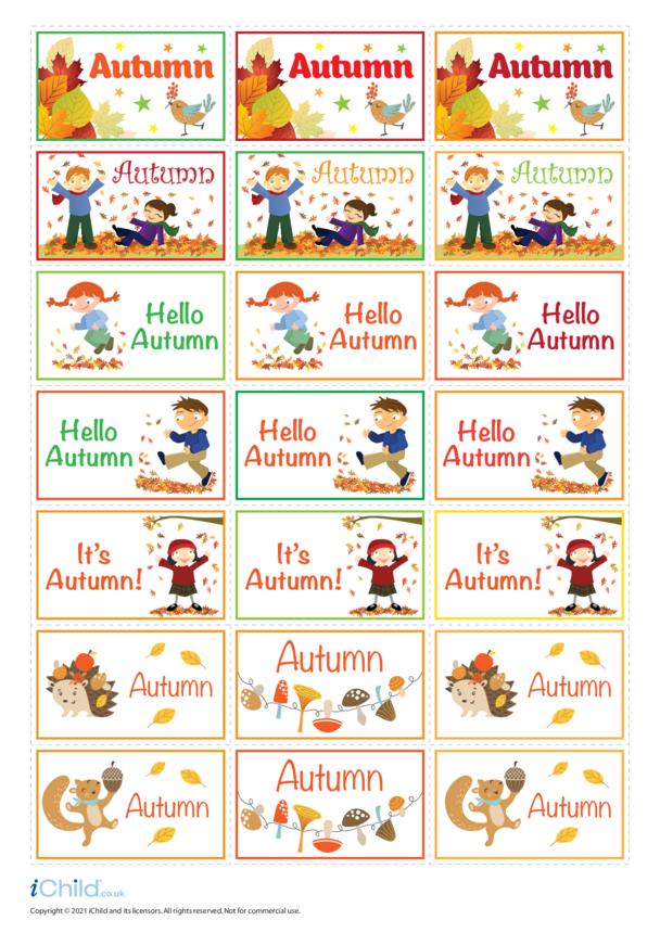 Autumn Large Sticker Sheet