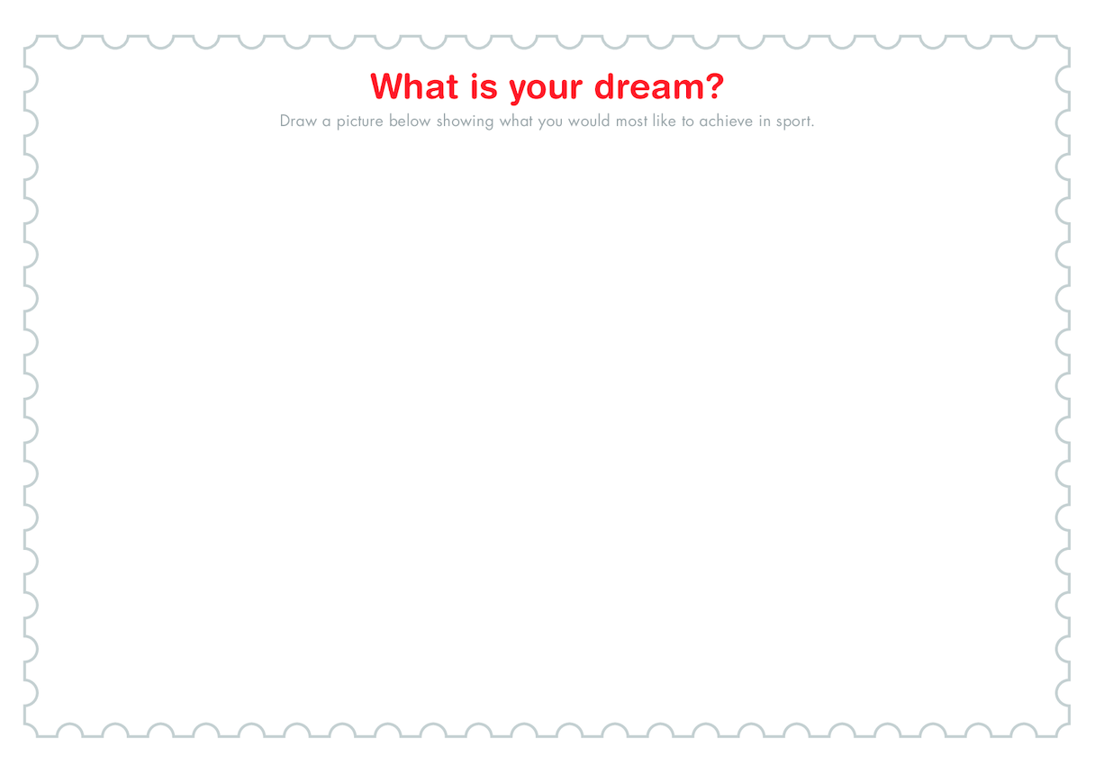 Secondary 1) I Have a Dream Template (Drawing)