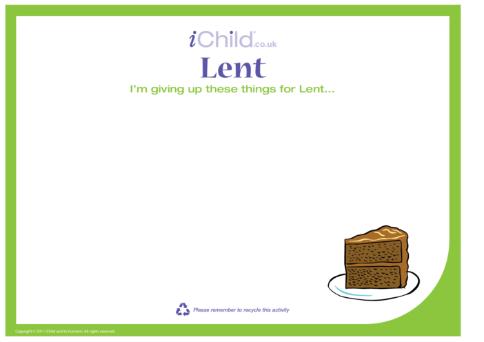 Thumbnail image for the Lent Blank Template activity.