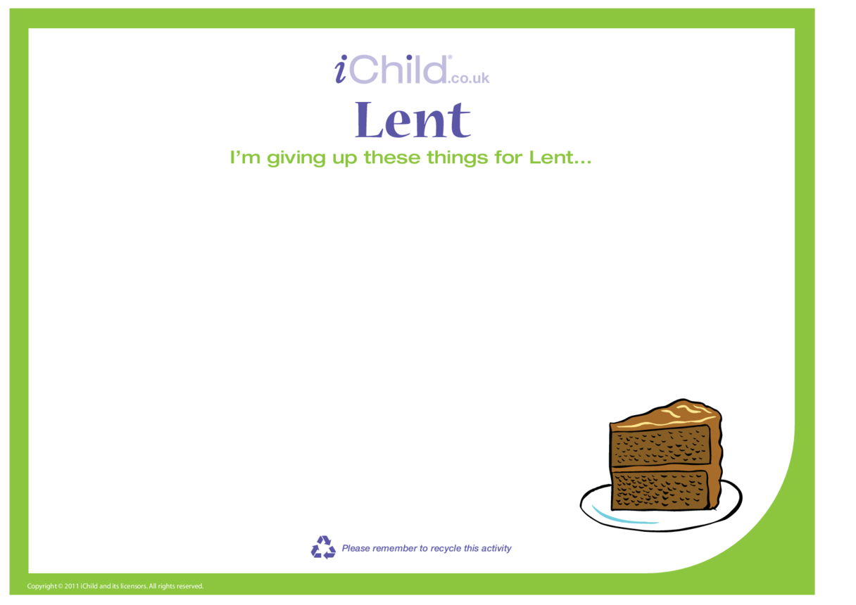 Lent Blank Template