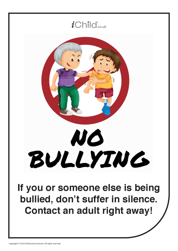 Anti-Bullying Poster: Tell an Adult