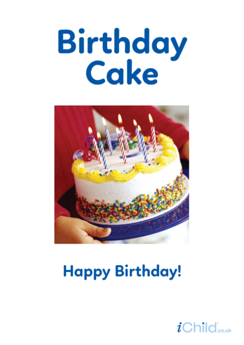Thumbnail image for the Birthday Cake - Photo Poster activity.