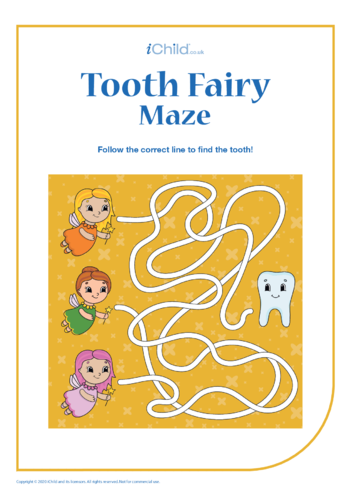 Thumbnail image for the Tooth Fairy Maze activity.