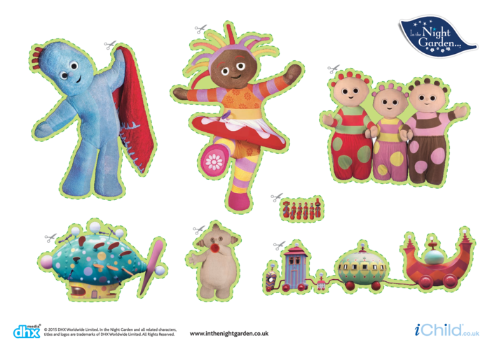 Thumbnail image for the In the Night Garden Large Stickers: In the Night Garden Friends activity.