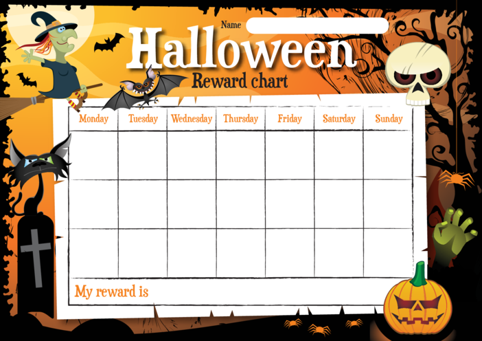 Thumbnail image for the Halloween Reward Chart activity.