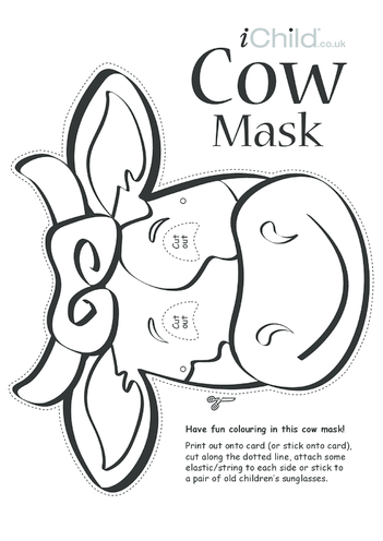 Thumbnail image for the Cow Animal Mask activity.
