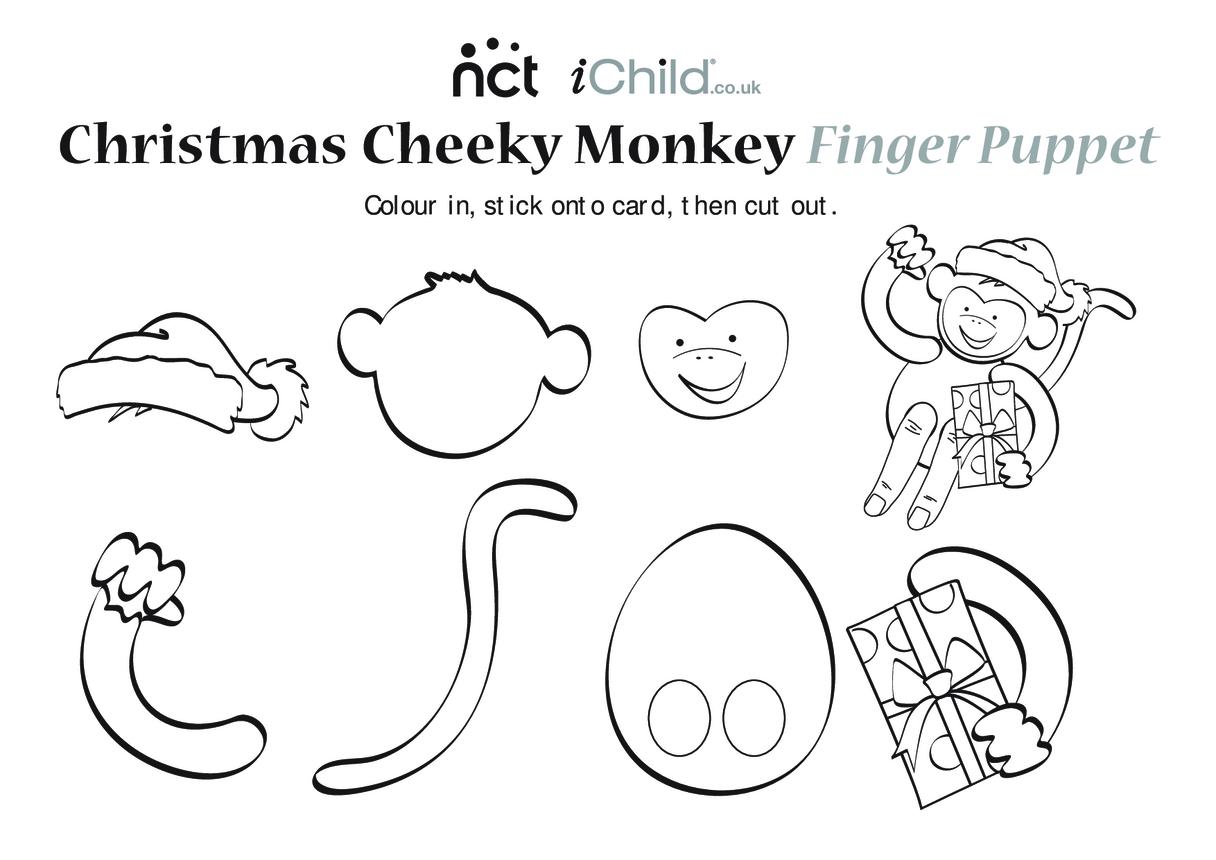 Cheeky Monkey Christmas Finger Puppet