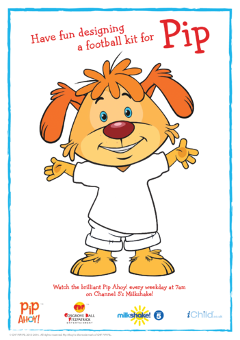 Thumbnail image for the Design a Football Kit for Pip (Pip Ahoy!) activity.