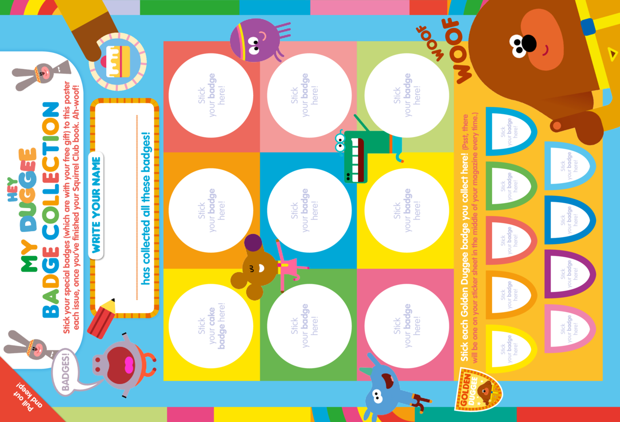 Hey Duggee Badge Collection Poster