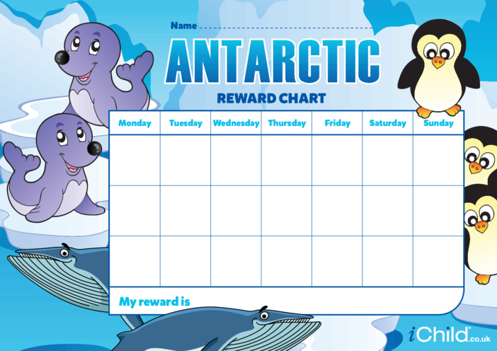 Thumbnail image for the Antarctic Reward Chart. activity.