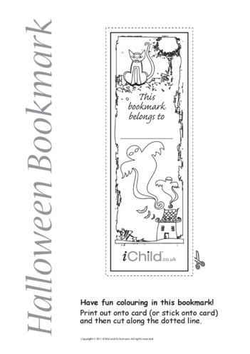 Thumbnail image for the Halloween Bookmark activity.