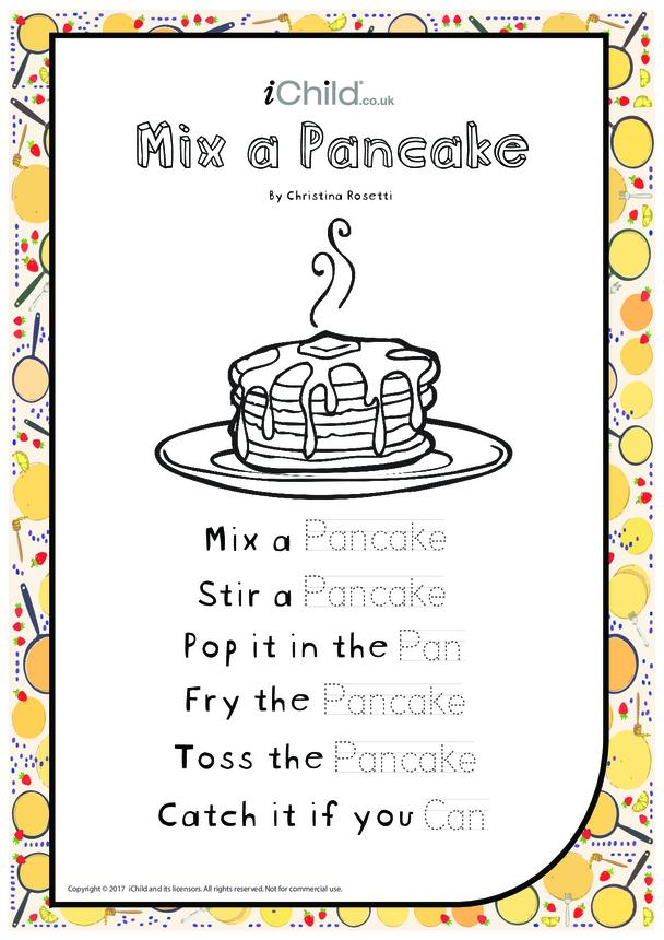 Mix a Pancake - Poem for Pancake Day