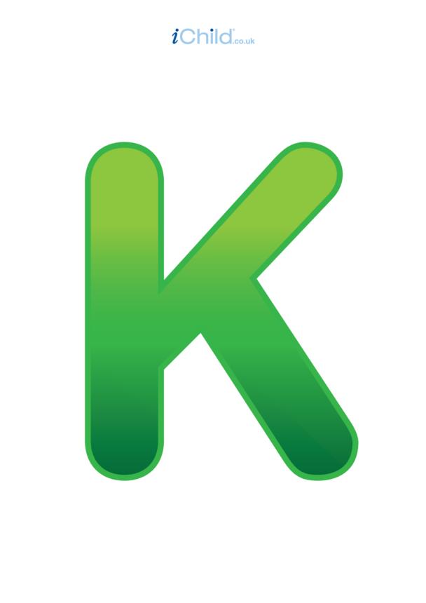 K: Poster of the Letter 'K'