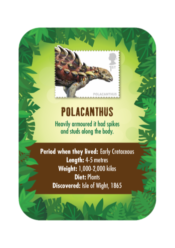 Thumbnail image for the Dinosaur Fact Card- Polacanthus (A4) activity.