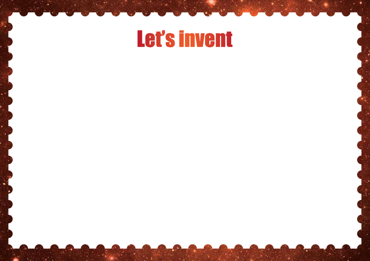 Primary 3) Let's Invent Drawing Template