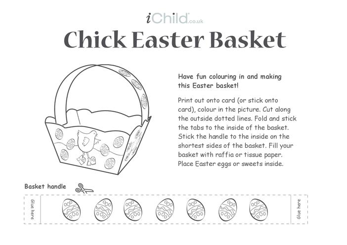 Thumbnail image for the Basket - Chick Easter activity.