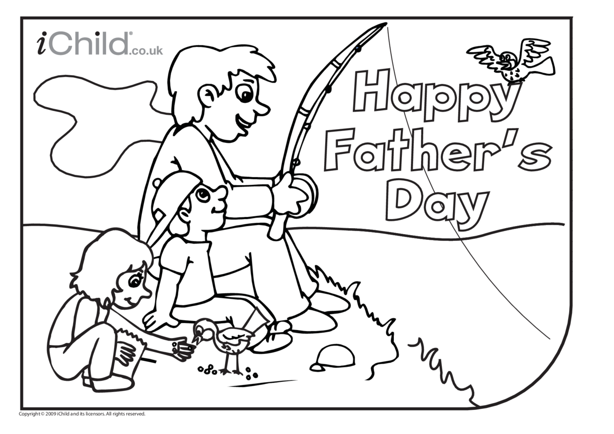 Father's Day Colouring in picture