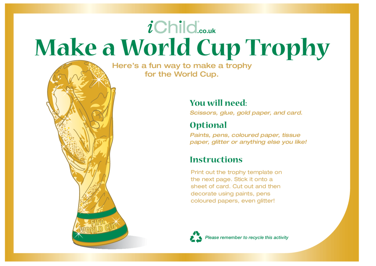 World Cup Trophy Craft