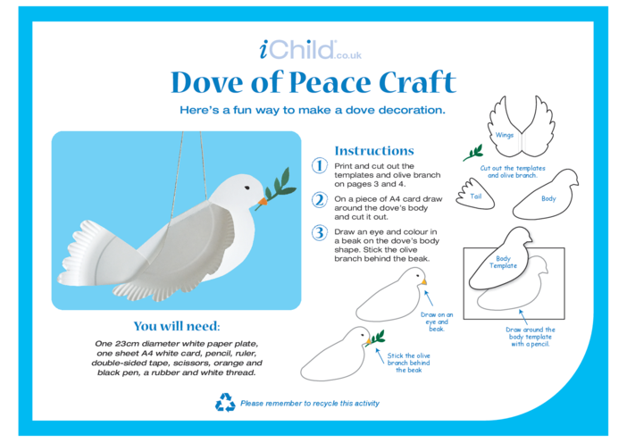 Thumbnail image for the Dove of Peace Craft activity.