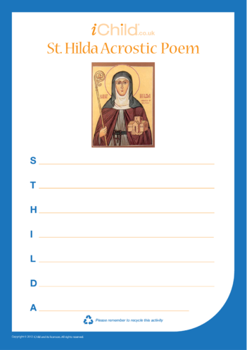 Thumbnail image for the St. Hilda Acrostic Poem activity.